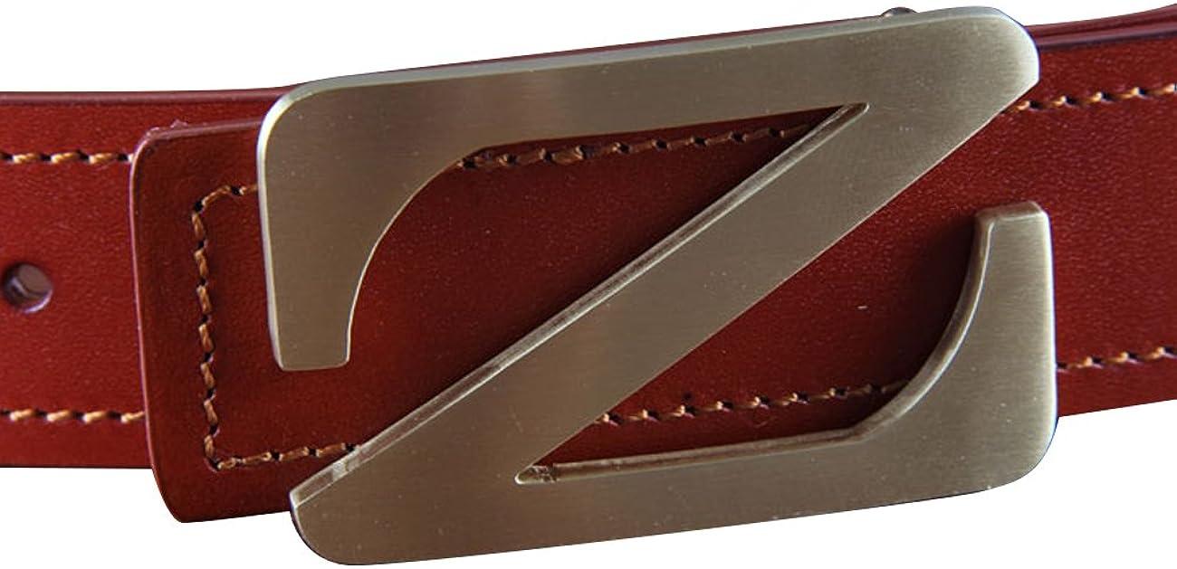 Menschwear Mens Belt Genius Leather Waistband with Copper Slide Buckle 38MM
