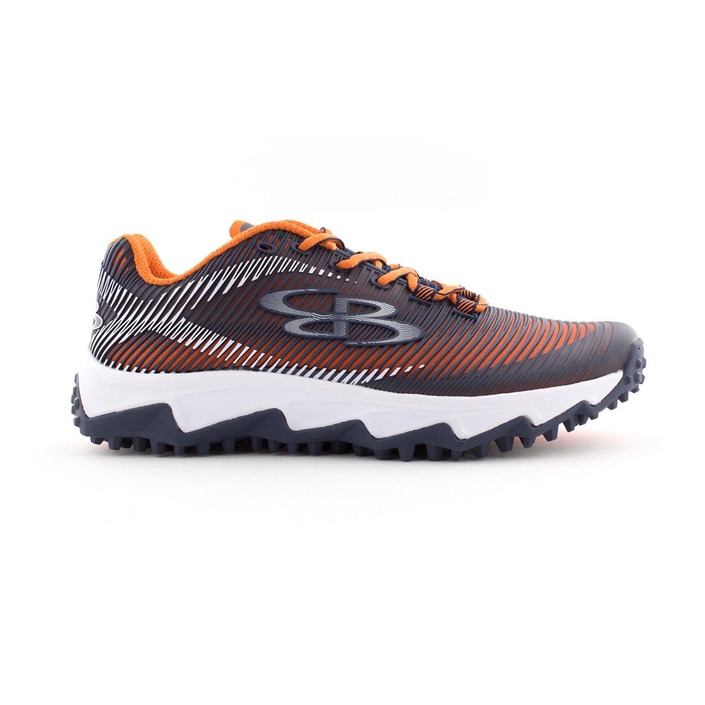 BoombahメンズAftershock DPS Turf Shoes – 18カラーオプション – 複数のサイズÉ B0767QXXWQ 8|ネイビー/オレンジ ネイビー/オレンジ 8