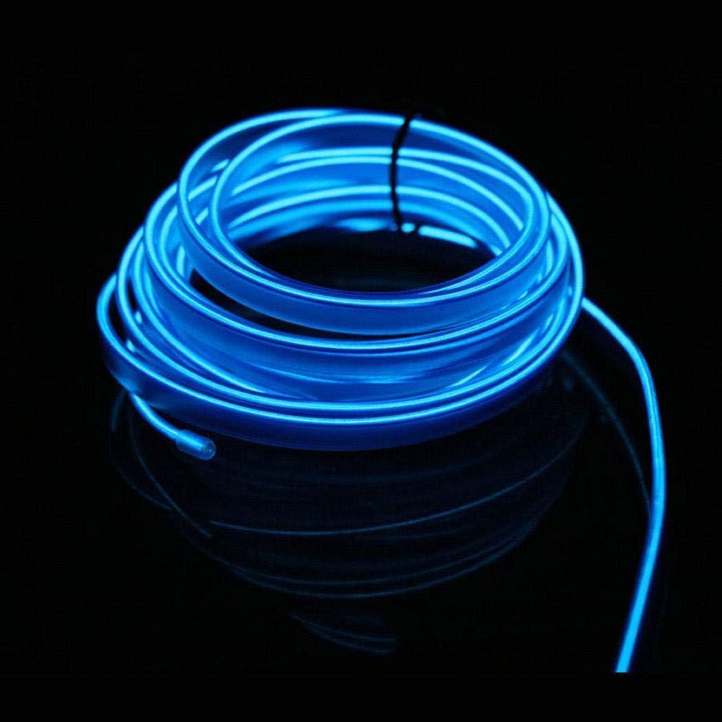 Yukio Baumarkt-1//3 Meter Ambientebeleuchtung 23v EL Wire Auto Licht Dekoration LED Stripes Innenraumbeleuchtung Lichtschlauch LED Streifen