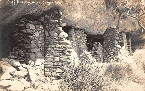 Walnut Canyon Arizona Cliff Dwelling Side Real Photo Antique Postcard K33738 (Arizona Antique Walnut)