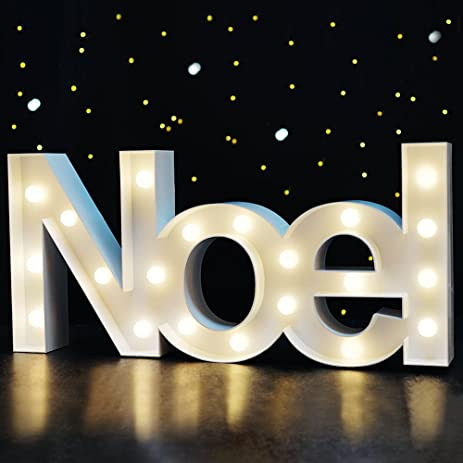 bright zeal 85 tall large noel christmas marquee sign letters white