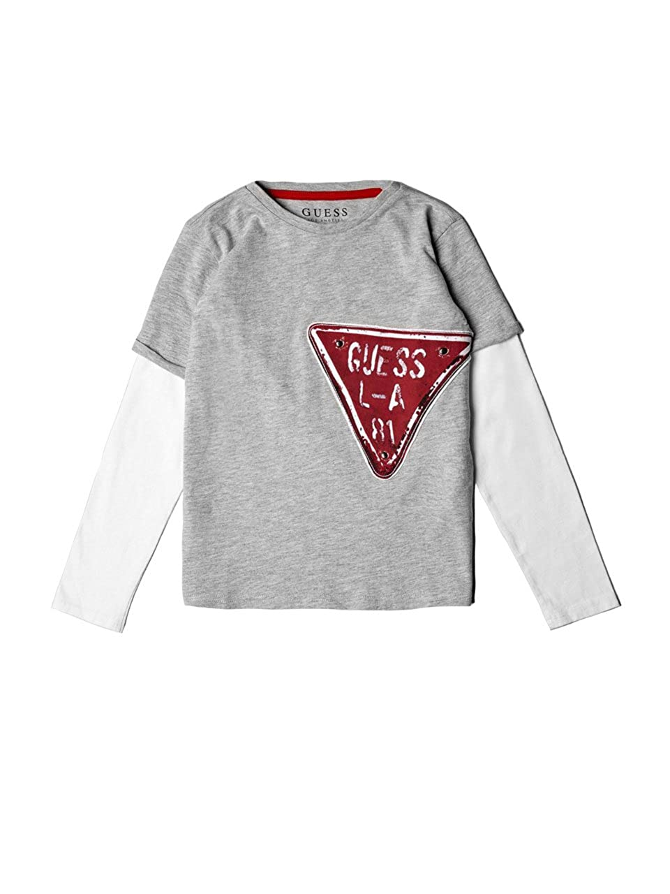 GUESS Boys Long Sleeve Layered Graphic T-Shirt