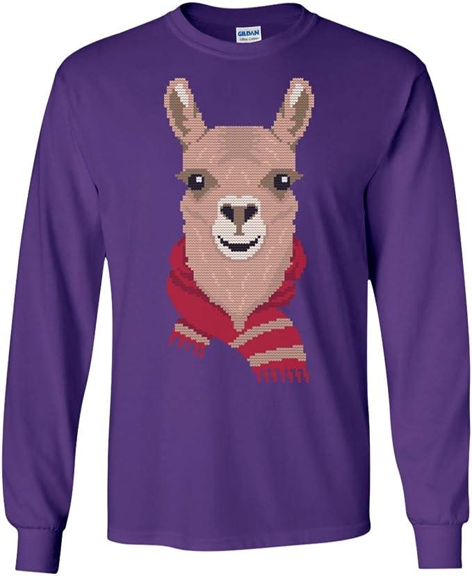 : Llama Christmas Ugly Scarf Funny Ugly