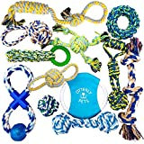 Otterly Pets Puppy Dog Pet Rope Toys – Small to Large Dogs (12-Pack)