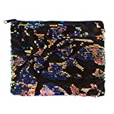 Style. Lab Style.Lab Black Velvet/Jewel Fashion Angels Scattered Magic Sequin Pouch