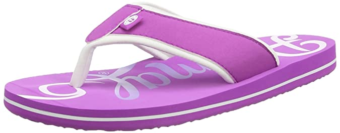 Animal Damen Swish Logo Sandalen, Purple (Orchid Purple), 38 EU