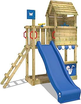 WICKEY Parque infantil de madera Smart Sparrow con tobogán ...