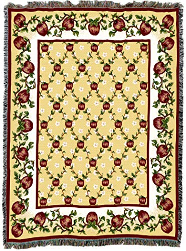 - Pure Country Weavers | Apple Season Woven Tapestry Throw Blanket with Fringe Cotton USA 72x54