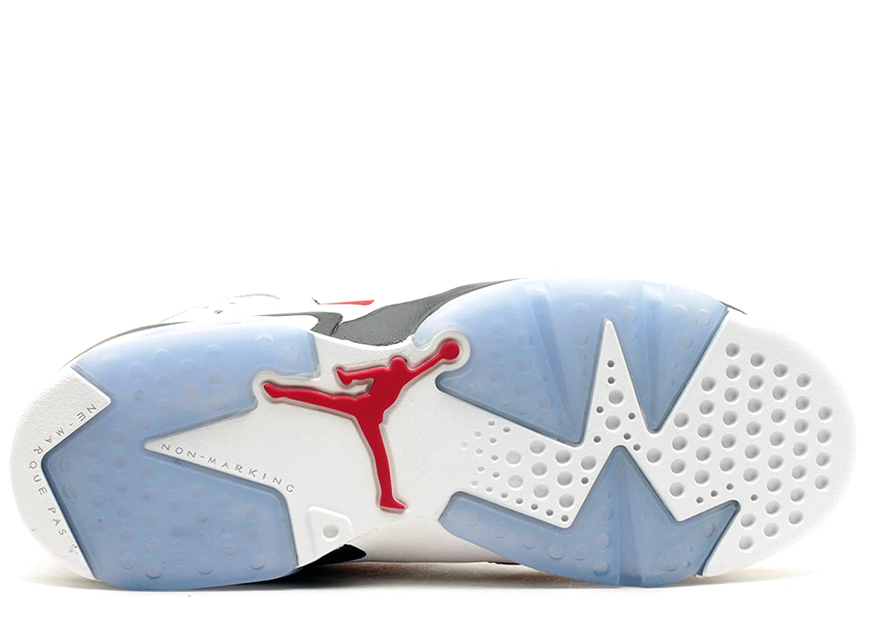 new styles 03034 e1003 ... Amazon.com Jordan Gradeschool Retro 6 (Gs) WHITEBLACKCARMINE 384665-160  Fashion Sneakers ...