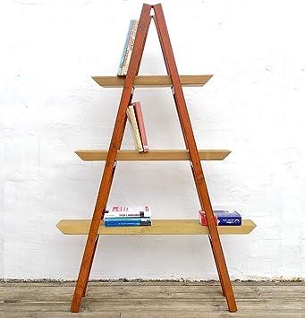 Estante genérico para Libros o Plantas, para casa o casa, tamaño Mediano, Estilo Vintage, para Colocar en el hogar o en Escalera de Madera: Amazon.es: Electrónica