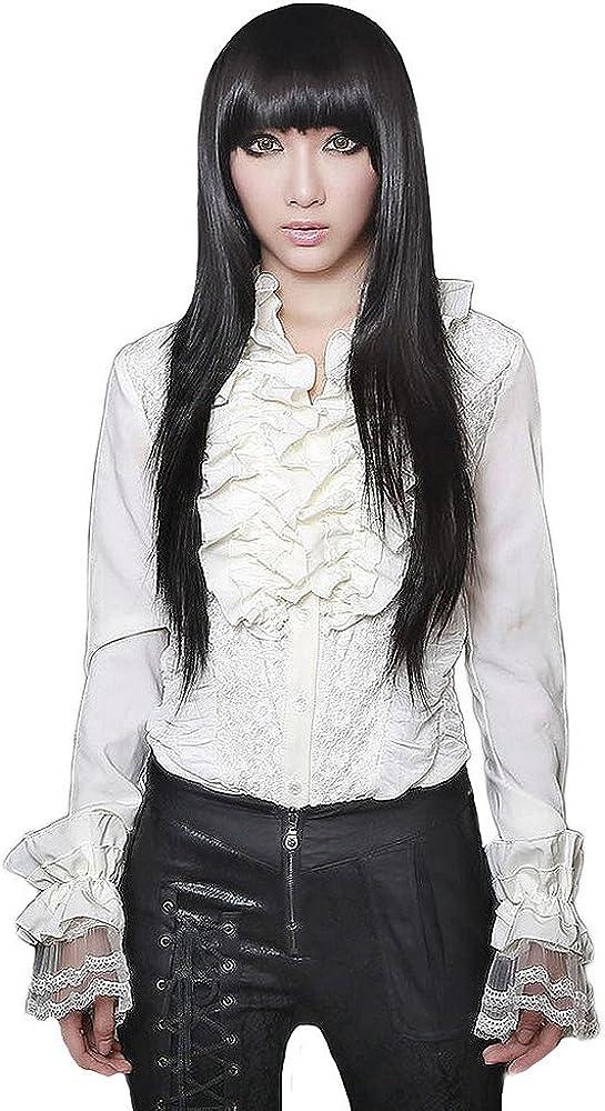 Pentagramme - Camisas - para Mujer Blanco Medium: Amazon.es: Ropa y accesorios