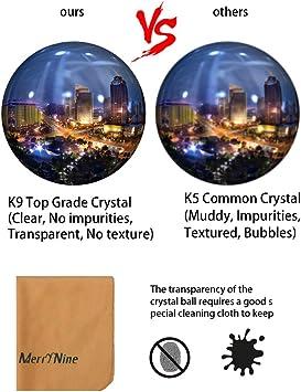 K9 Kristallkugel Mit Ständer Und Tasche Sonnenfänger Mit Mikrofasertasche Dekoratives Und Fotografisches Zubehör 90 Mm Set K9 Klar Küche Haushalt