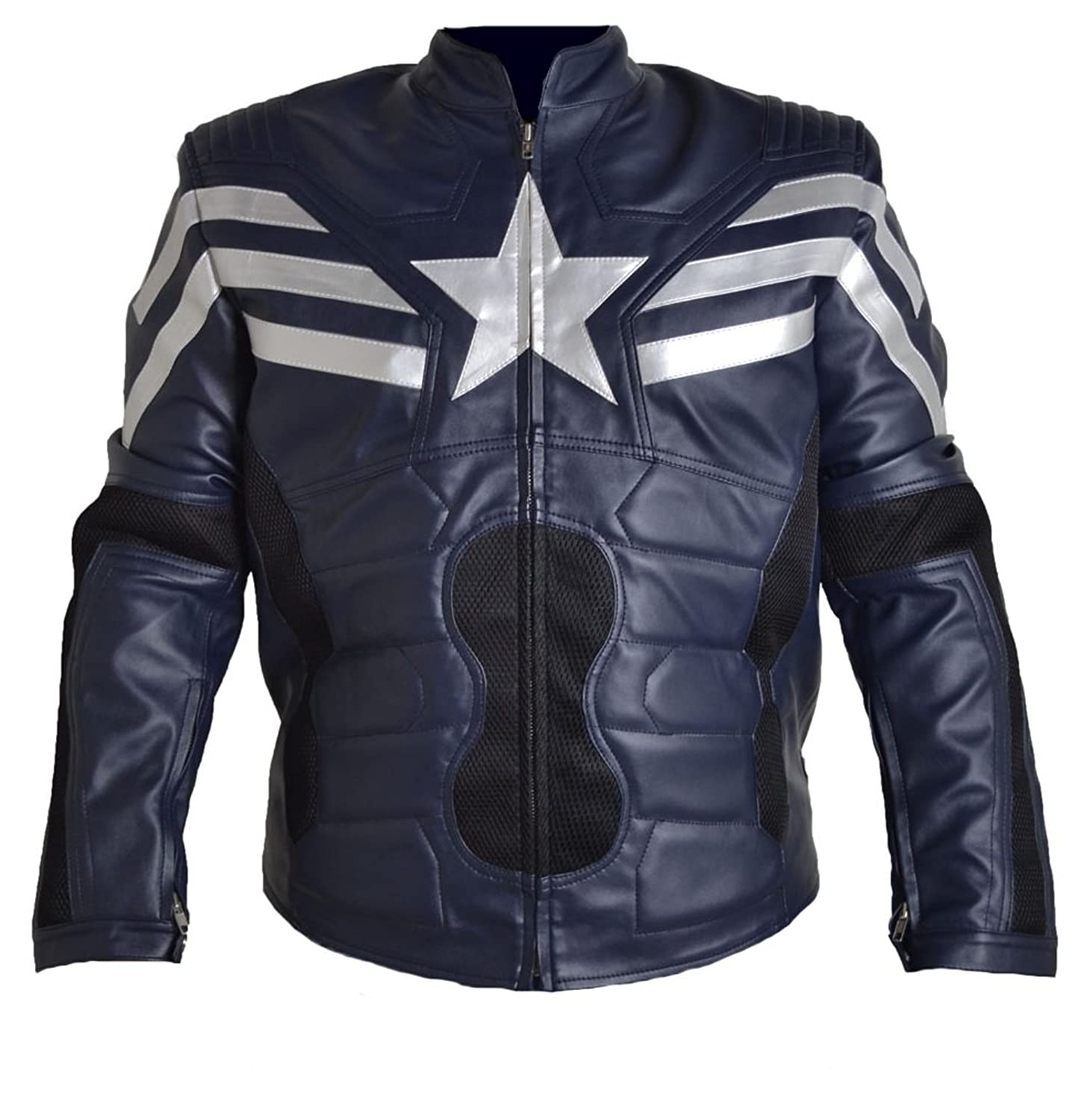 Classyak Men's Captain Leather Soldier Jacket