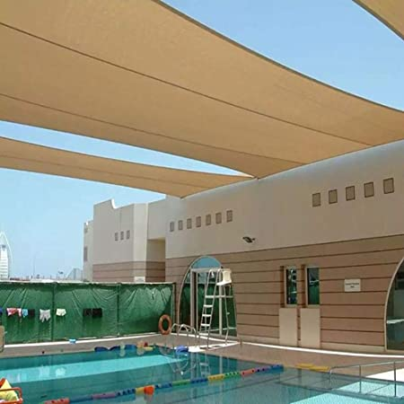 GuoWei Respirable Velas de Sombra Intemperie Solar UV Proteccion Jardín Patio Rectángulo Protector Solar Toldo, Personalizar (Color : Beige, Size : 3x5m): Amazon.es: Jardín