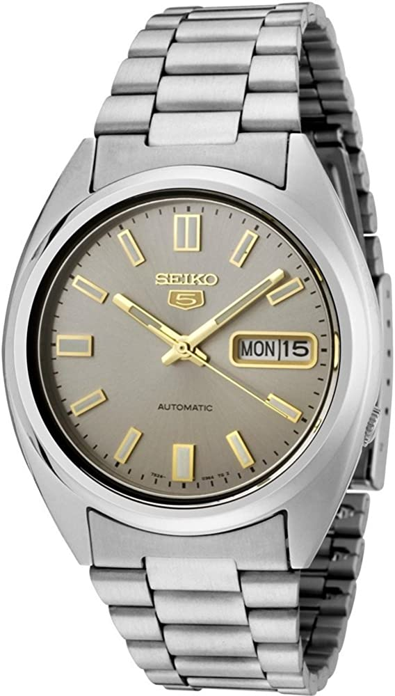 Seiko Men s 5 Automatic SNXS75K Silver Stainless-Steel Automatic Watch