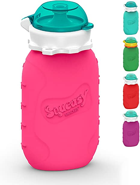 Squeasy Snacker, 180ml - Bolsa de Comida para Bebés Reutilizables ...