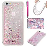 iPhone 6/6S Case, Firefish Bling 3D Sparkle Floating Dynamic Flowing Shockproof [Flexible] Gel Silicone [No Slip] Back Cover for Apple iPhone 6/6S 4.7″ -Pink Review