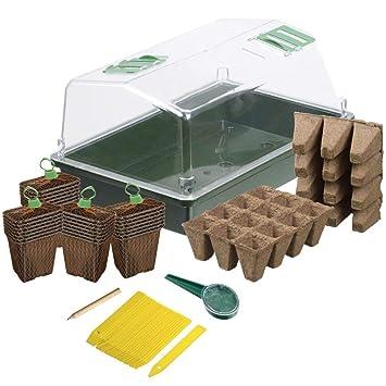 Nature Kit Básico Propagador Bricolaje Jardín Cultivo Mini Invernadero Plantas: Amazon.es: Jardín