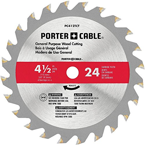 "PORTER-CABLE PC412TCT 4-1/2"" 24T TCT Saw Blad"