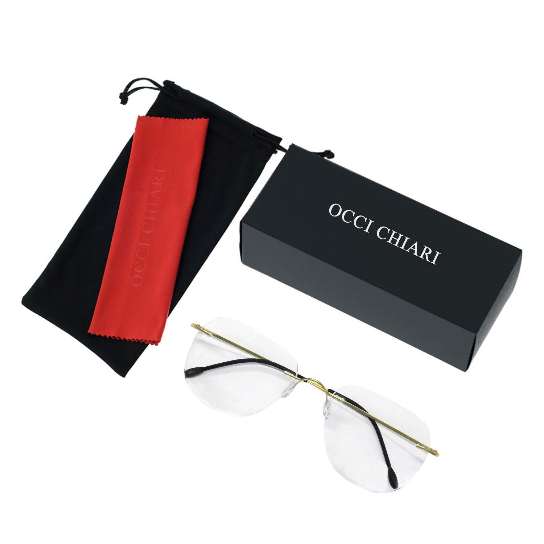 Titanium Men Rectangular Rimeless Eyewear Frames Lightweight Clear Lens Optical Eyeglasses