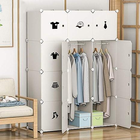 Cocoarm Armario Portátil, Armario Modular de Plástico Armario Estantería Organizador de 12 Cubos Almacenaje de