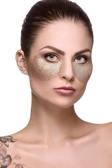 Fast Beauty Co. Eyespresso 1 pair Brightening Gold Honey Comb Under Eye Mask With Hyaluronic & Collagen