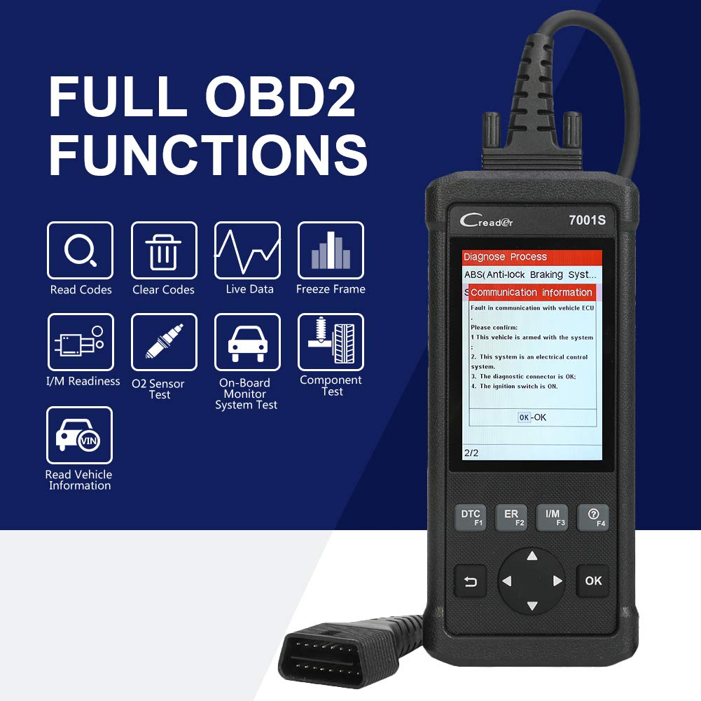 Launch OBD2 Scanner,Code Reader 7001S OBD II Scan Tool ABS SRS Diagnostic Scanner Tools with Oil Rest EPB Service,ABS Reset Service Functions. by LAUNCH (Image #6)
