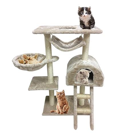 Homgrace Árbol para gatos Rascador, Escalador para Gatos para Relajarse, Jugar y Descansar,