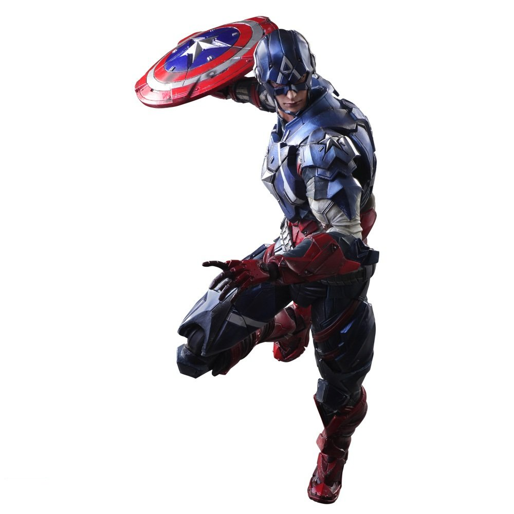 Play Arts Kai Captain America by Square Enix SG/_B013ULW9NG/_US MARVEL UNIVERSE VARIANT