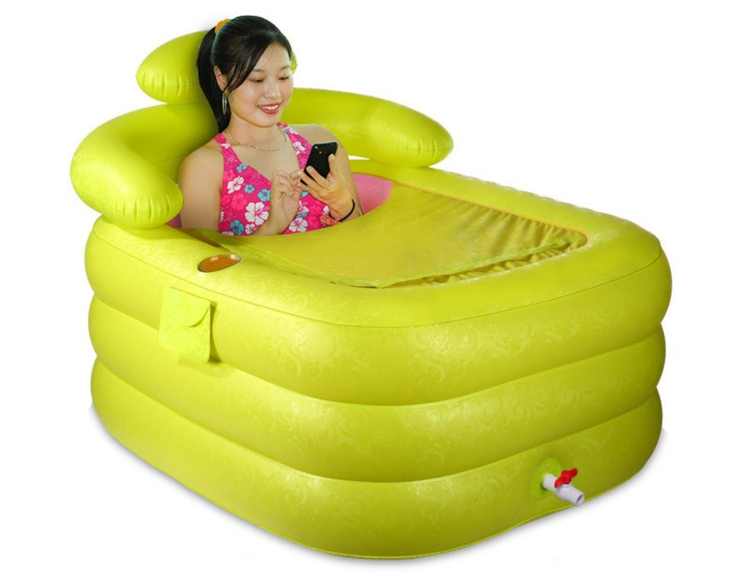 FACAI888 Double/single Adult Folding Inflatable PVC bathtub , green , large aike