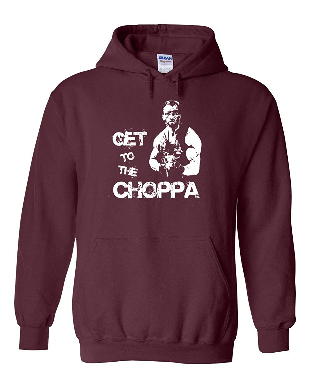 Swaffy Tees 43 Get to The Choppa Funny Hooded Sweatshirt