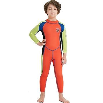 821576314b DIVE & SAIL Kids Boys Girls Wetsuit 2.5MM Neoprene Long Sleeve Thermal UV  Protection Diving