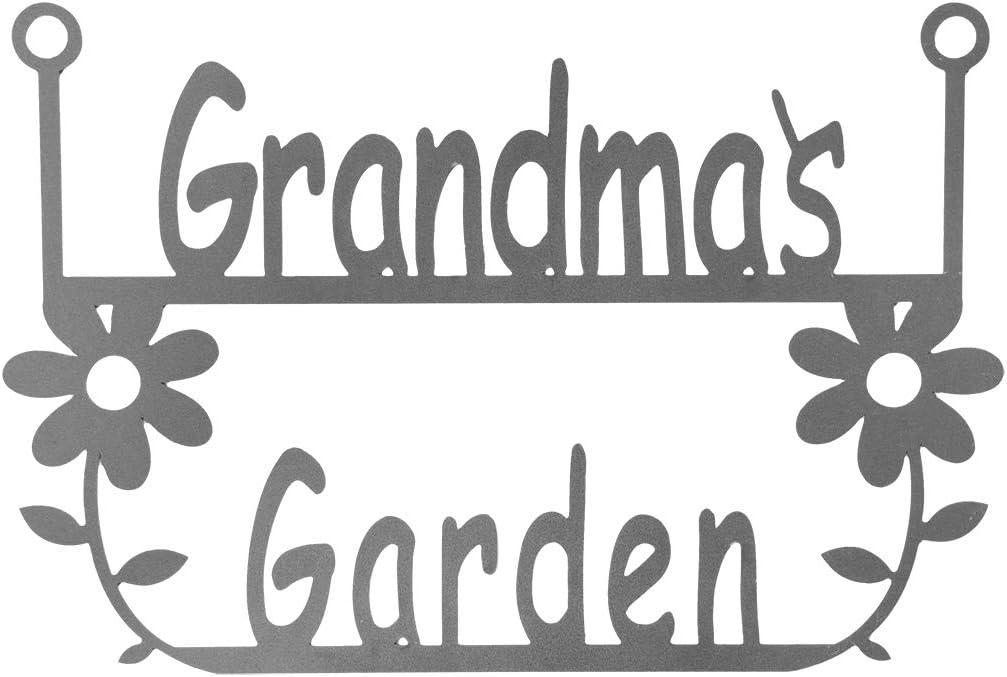 ROCC RUSTED ORANGE CRAFTWORKS CO. Garden Hanger's for Her Steel Signs (Grandma's Garden Hanger)