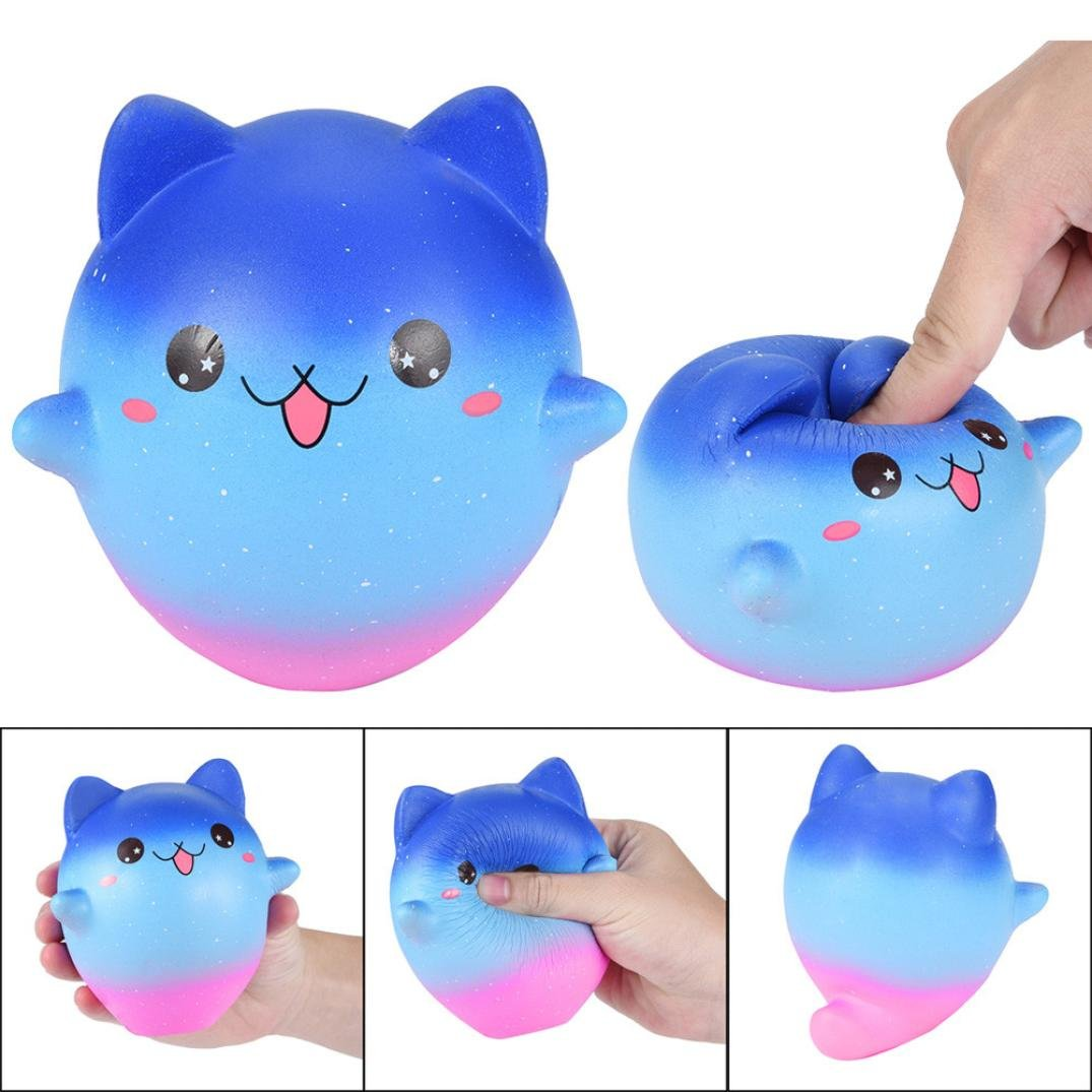 Cartoon Galaxy Kitty - Franterd Stress Reliever Kawaii Toy - Scented Slow Rising Squishy Simulation Gift - Kids &Adults Decompression Squeeze Toys - Educational Hop Decorative Props Toys by Franterd Toys (Image #2)