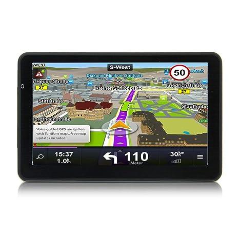 Laurelmartina 710 Navegación GPS de 7 Pulgadas para Camiones de automóviles Navegación capacitiva de 256M +