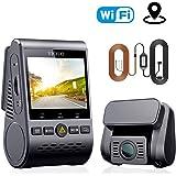VIOFO A129 ドライブレコーダー ドラレコ 前後カメラ デュアルレンズ GPS機能搭載 WIFI搭載 1080P Full HD SONY製センサー 2インチLCD画面 140度広角 常時/衝撃/ループ録画 駐車監視 動体検知 超強夜視機能/コンデンサ G-センサー WDR 最大256GBカード 1年保証 (129DUO)