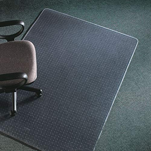 deflecto CM17743 60 x 60 Clear ExecuMat Intense All Day Use Chair Mat for High Pile Carpet ()