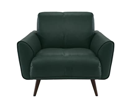 Merveilleux Natuzzi Editions Tobia Green Leather Armchair