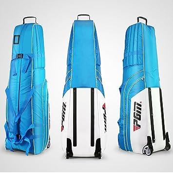 Bolsa de viaje acolchada con ruedas para golf PGM, viene con una pequeña funda de almacenamiento, plegable., Hombre, white-blue: Amazon.es: Deportes y aire ...