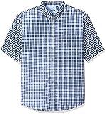 IZOD Men's Tall Saltwater Breeze Short Sleeve Shirt, Estate Blue, 3X-Large Big