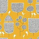Organic Fitted Crib Sheet - Yellow Trees