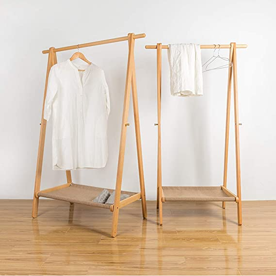 Amazon.com: Coat Racks Free Standing Nordic Solid Wood Coat ...