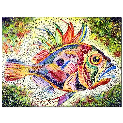 Live Art Decor - Watercolor Canvas Wall Art,Bright Fish