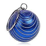 FstFshion Women's Crystal Round Ball Bag Rhinestone Clutch Bag Bling Party Handbags