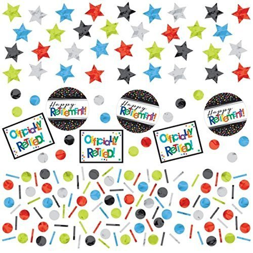 Amscan Retirement Party Happy Retirement Officially Retired Off The Clock 3 Pack Confetti Brand New For 2016