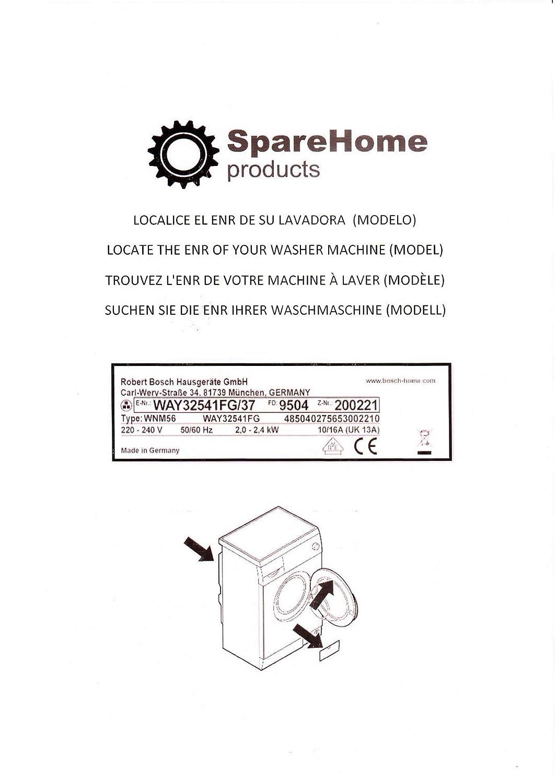 SpareHome/® Electrov/álvula para lavadoras ACEC AEG ARTHUR MARTIN ATLAS CASTOR CORBERO DOMOLINE ELECTRA ELECTROLUX