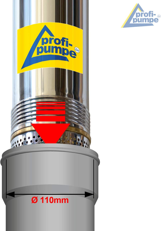 profi-pumpe.de 4-TAUCHPUMPE BRUNNENPUMPE BRUNNEN-Star 750=Die Energie-Spar-TIEFBRUNNENPUMPE mit hoher F/örderleistung und gro/ßem Druck