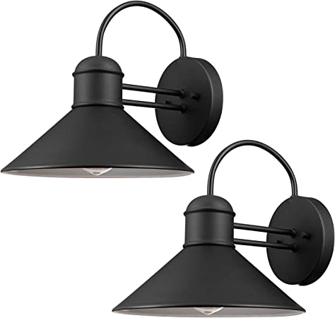 Globe Electric 44165 Sebastien 1 Light Outdoor Wall Sconce 2 Pack Black Finish Amazon Com