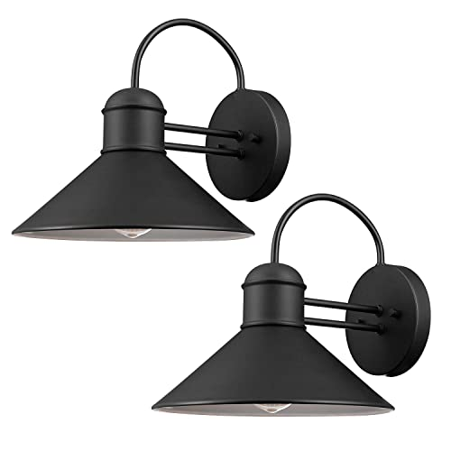 industrial outdoor lighting garage globe electric 44165 sebastien outdoor wall sconce black finish 2pack industrial light amazoncom