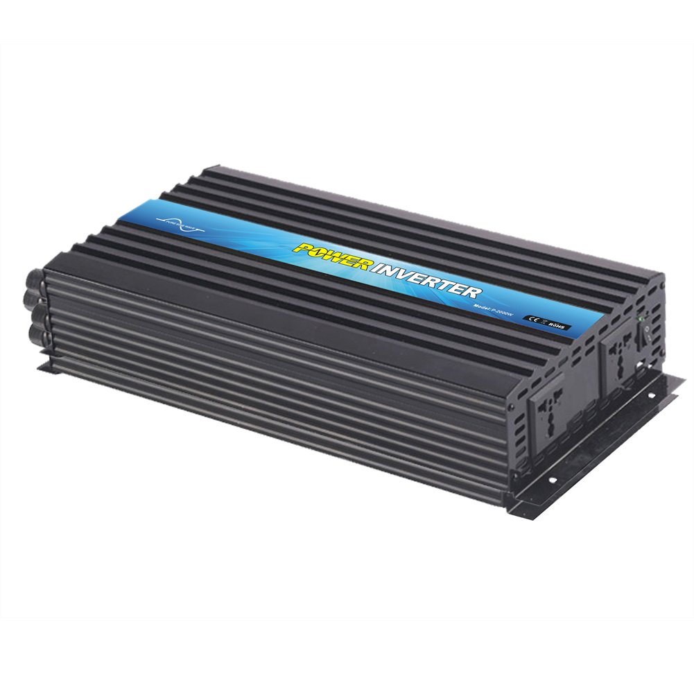 NIMTEK MM2000 Pure Sine Wave Off-grid Inverter, Solar Inverter 2000 Watt 24 Volt DC To 220 Volt AC